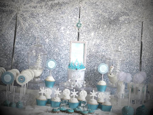 frozen sparkle backdrop