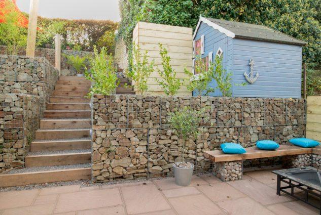 gabioes decorativos jardim 1