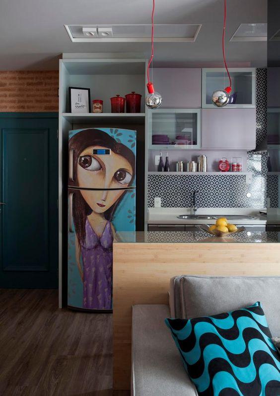 geladeira adesivo engracado grafiti