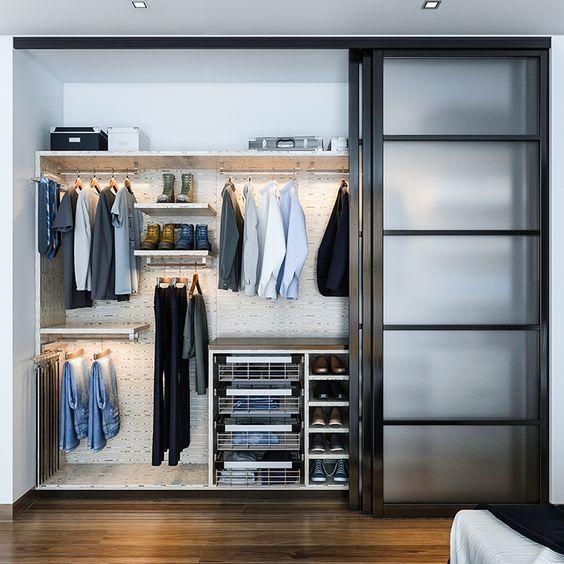 guarda roupa planejado embutido preto