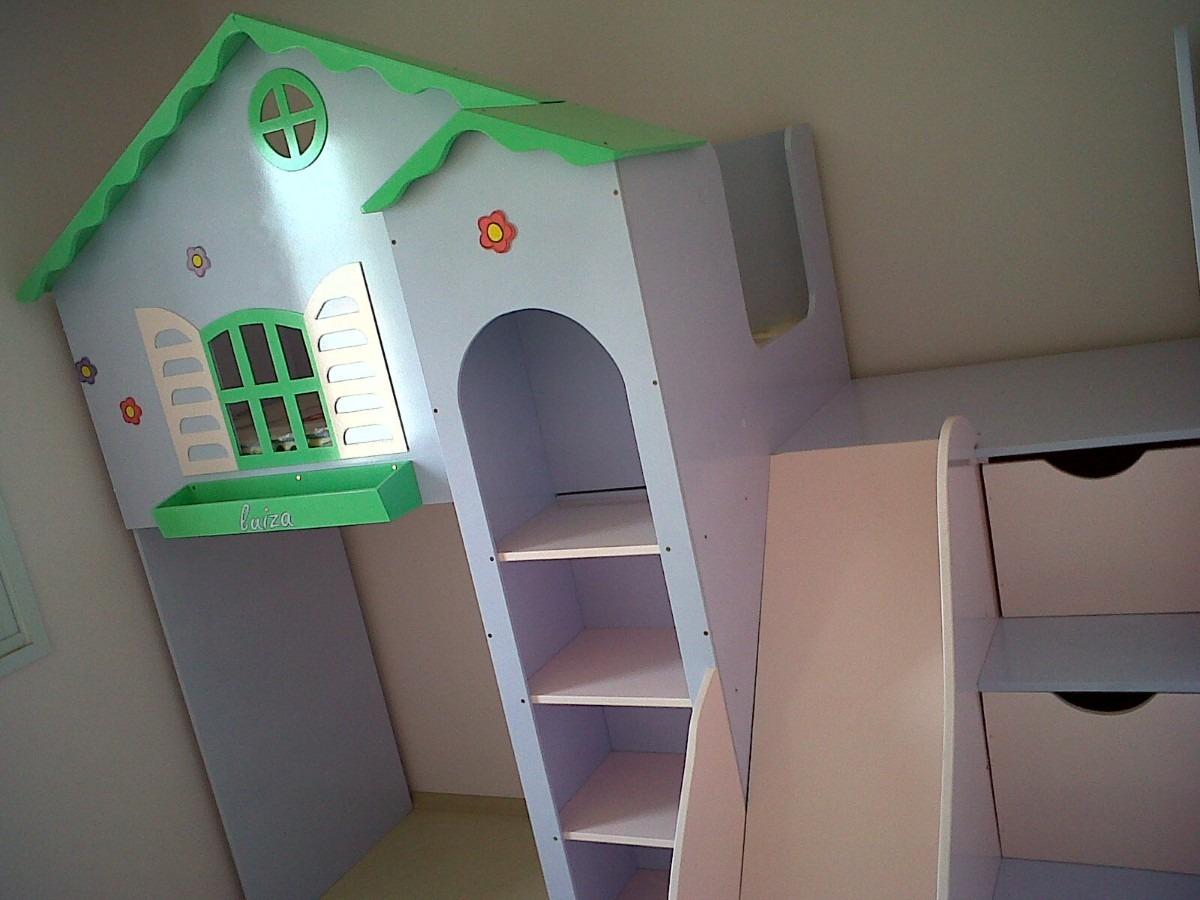 ideias camas infantis com escada