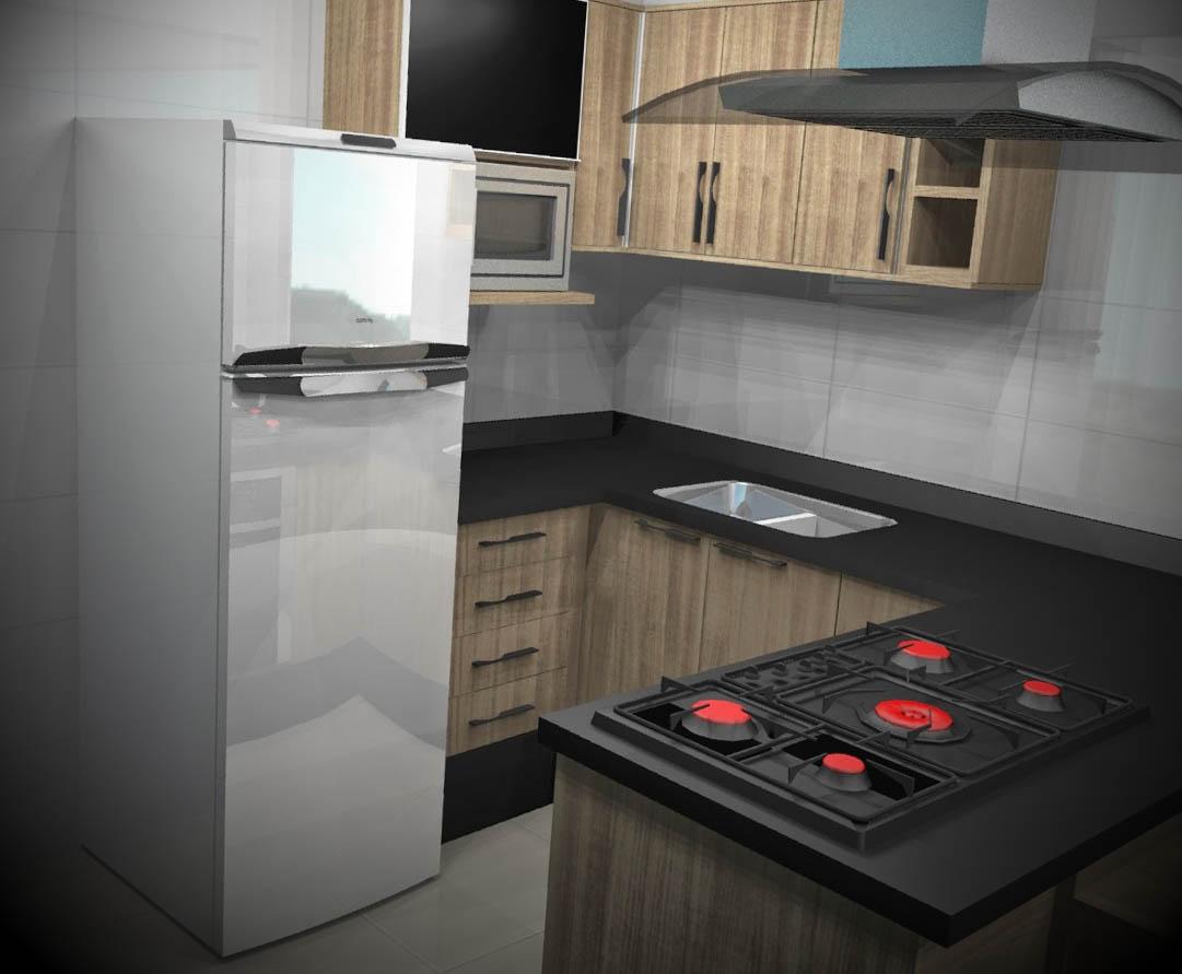 ideias cozinhas planejadas apartamentos pequenos