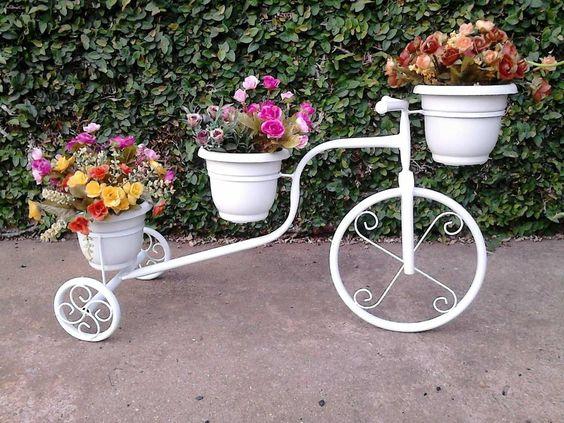 ideias criativas vasos bicicleta
