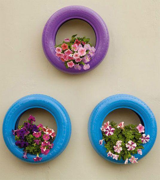 ideias criativas vasos pneus