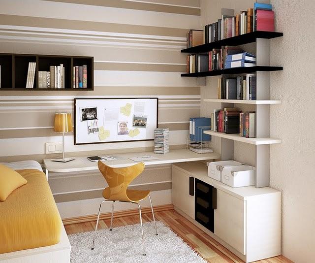 ideias de decoração de escritorio pequeno