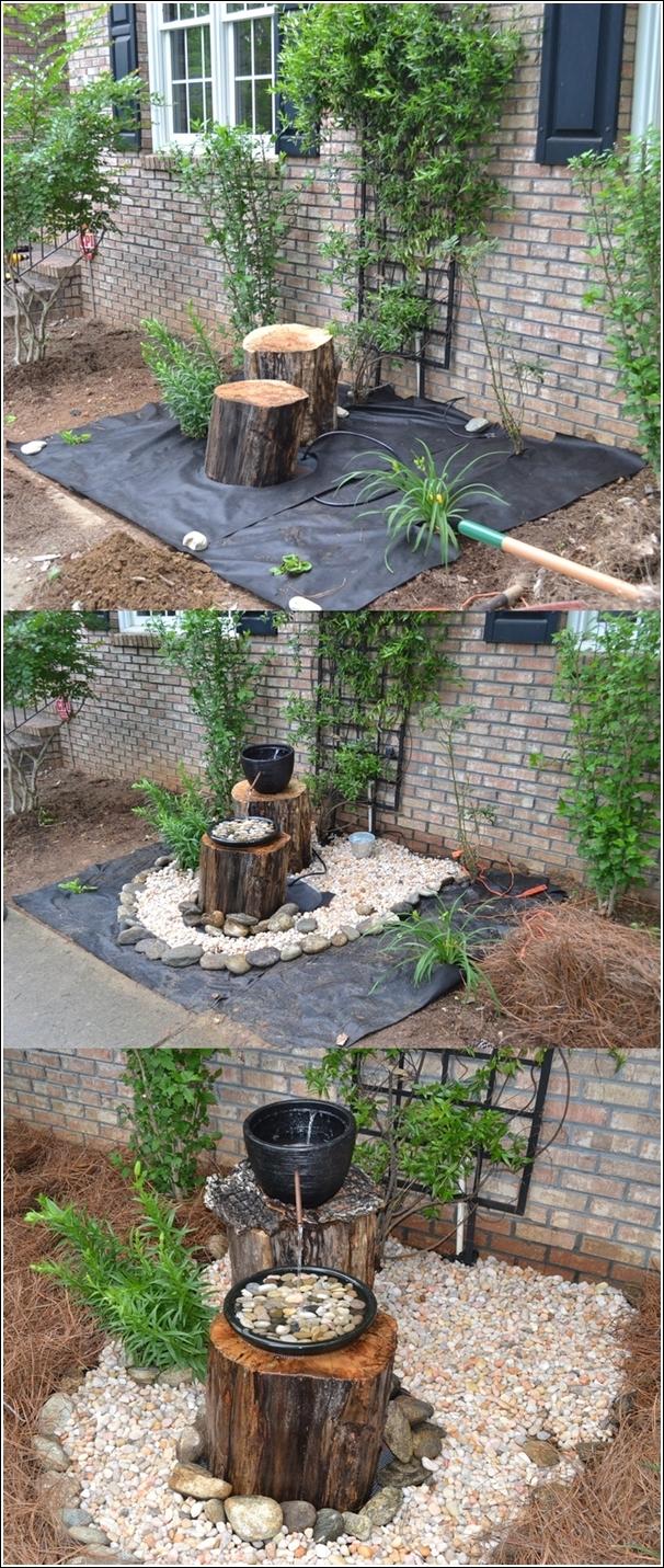 ideias de fontes de jardim de madeira 1