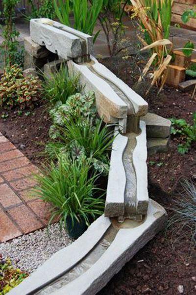ideias de fontes de jardim de madeira 3