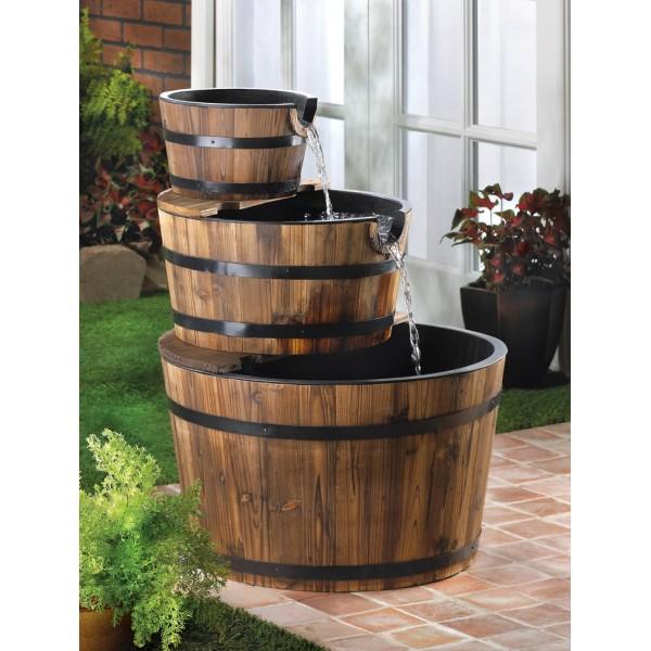 ideias de fontes de jardim de madeira 4