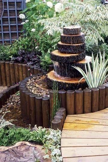ideias de fontes de jardim de madeira 5