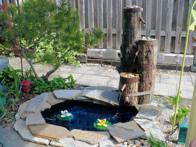 ideias de fontes de jardim de madeira 7