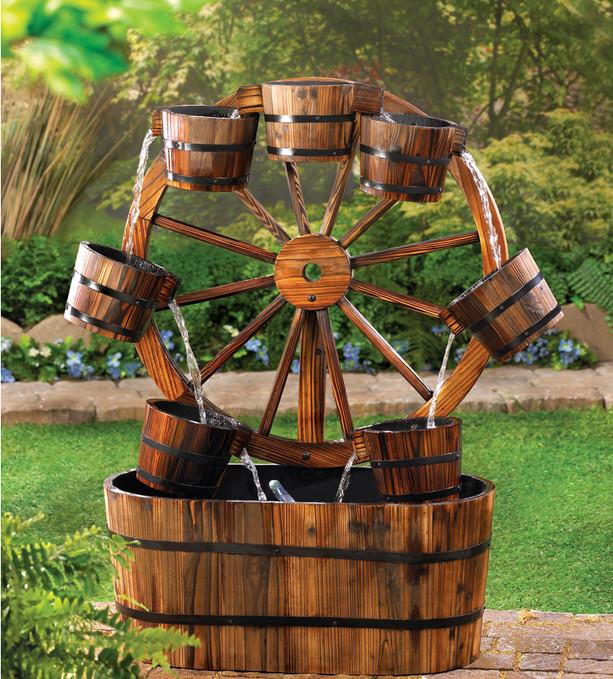 ideias de fontes de jardim de madeira 8