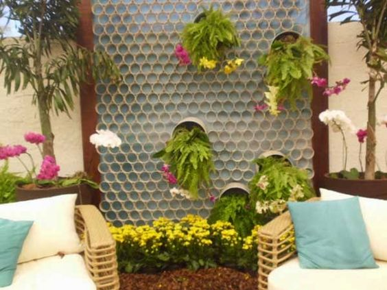 ideias de jardinagem com tubos em pvc 6