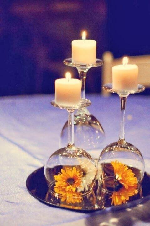 ideias decoracao casamento centro mesa