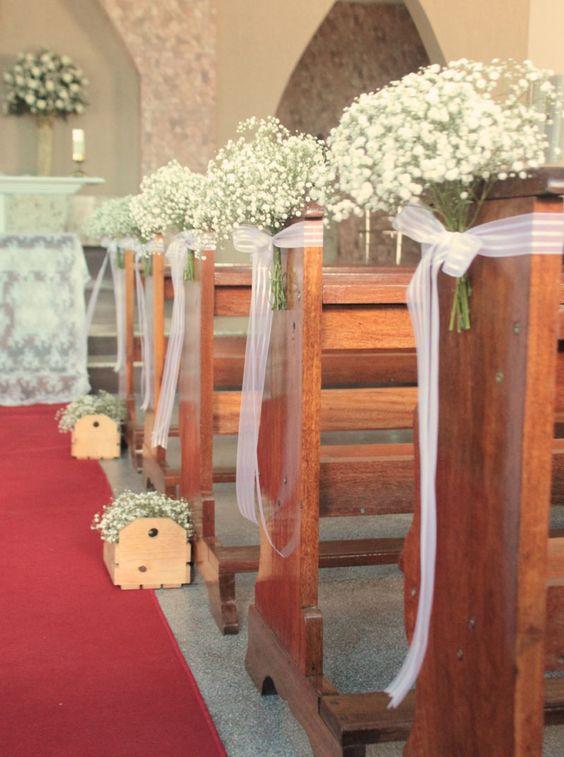 ideias decoracao casamento igreja