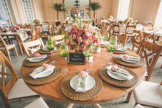 ideias decoracao casamento mesa
