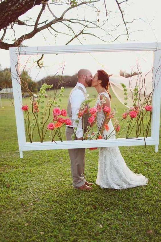ideias decoracao casamento moldura