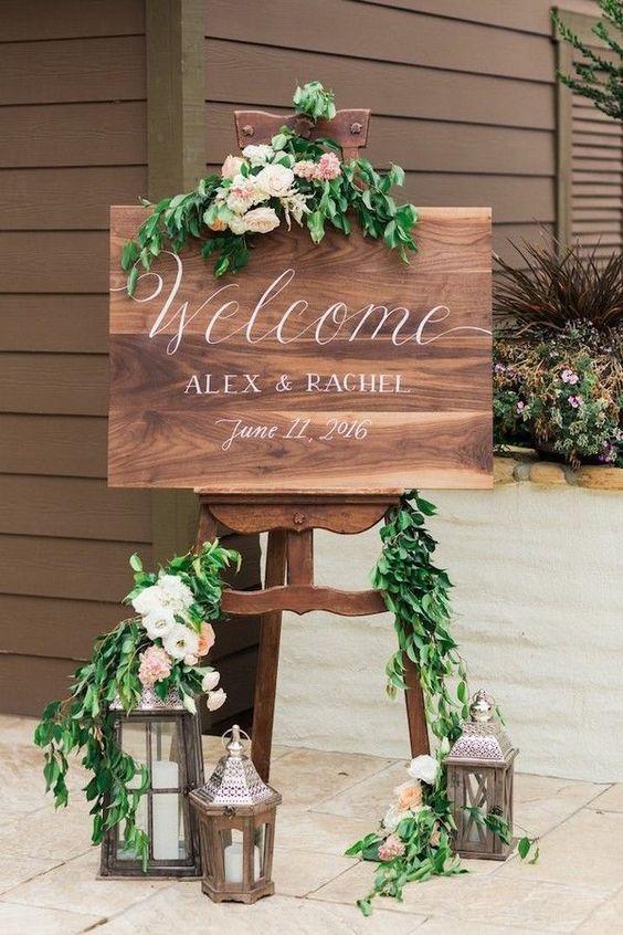 ideias decoracao casamento placard
