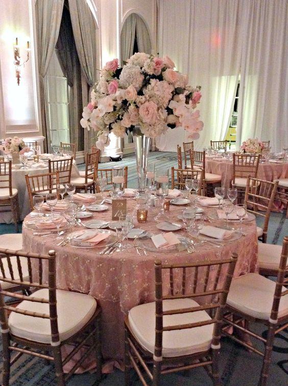 ideias decoracao casamento rosa