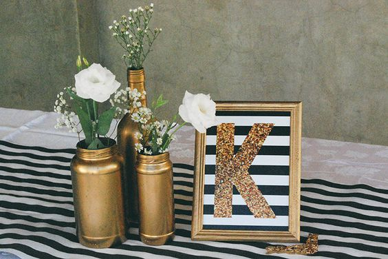 ideias decoracao dourado