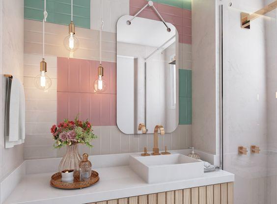 ideias decoracao tom pastel banheiro simples
