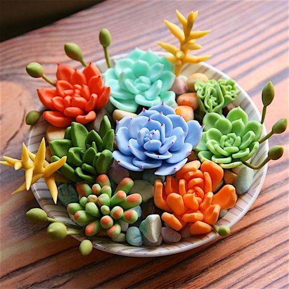 ideias decoracao vasos suculenta