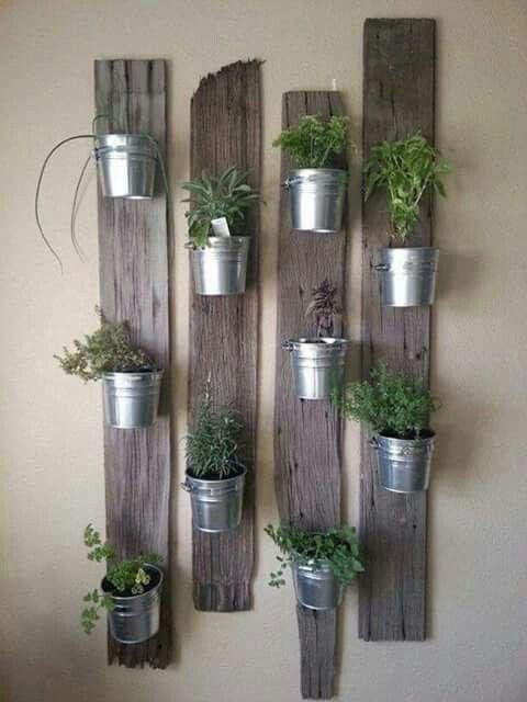 ideias decoracao vasos suporte madeira