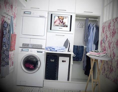 ideias decorar lavandaria pequena