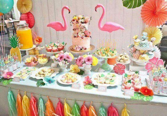 ideias dicas decoracao festa infantil flamingo
