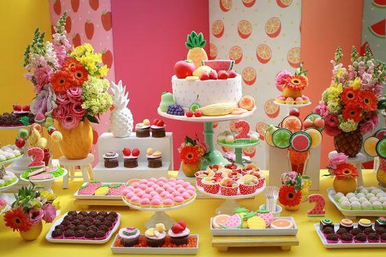 ideias dicas decoracao festa infantil frutas