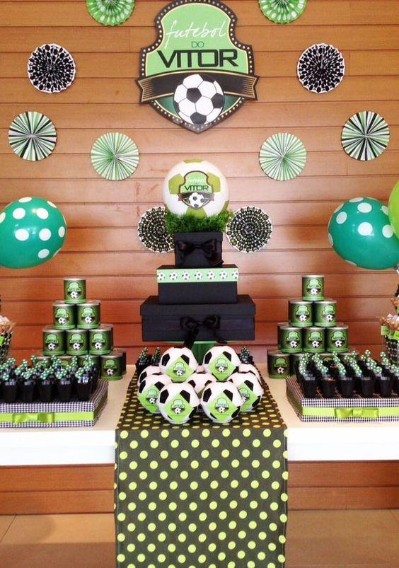 ideias dicas decoracao festa infantil futebol