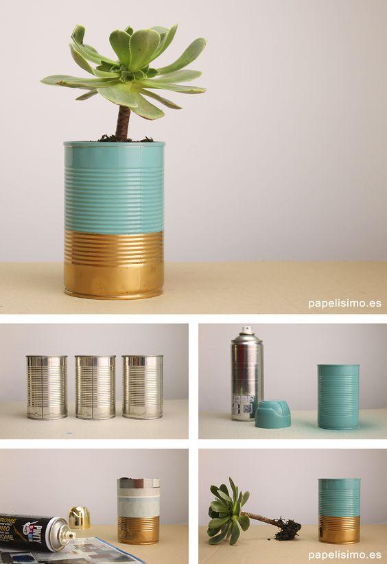 ideias diy decoracao latas 13