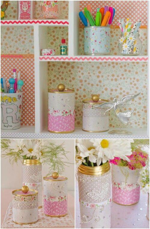 ideias diy decoracao latas 5