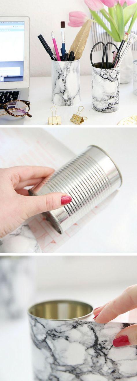 ideias diy decoracao latas