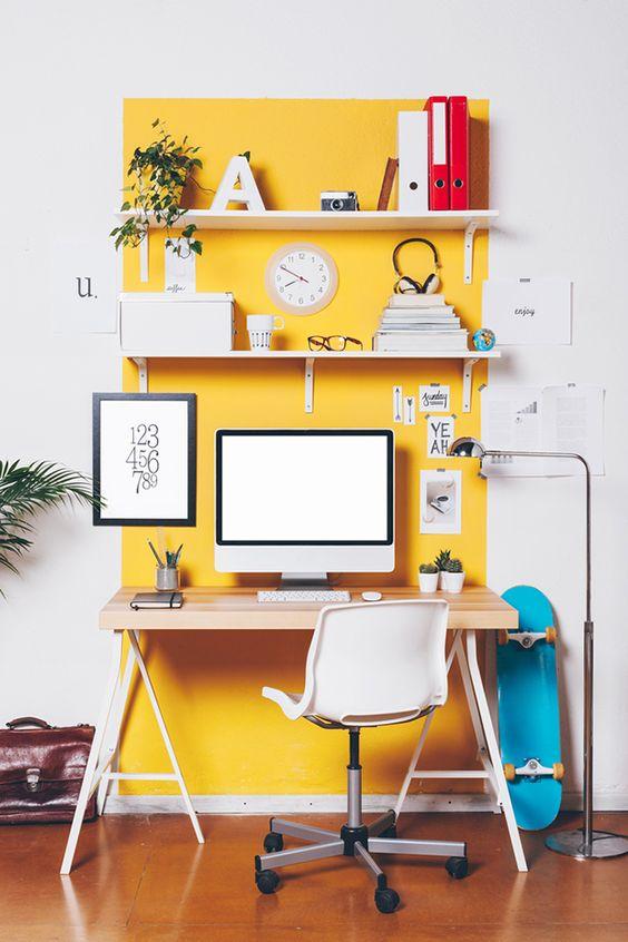 ideias giras para decorar o escritorio