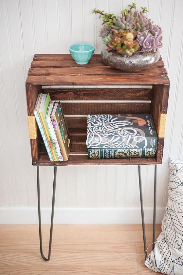 10+ Ideias espetaculares para transformar caixas de madeira em mobiliário de design