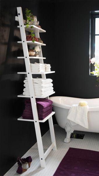 ideias organizar banheiro escada