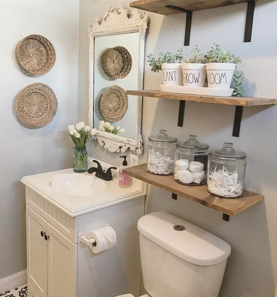 ideias organizar banheiro potes 1
