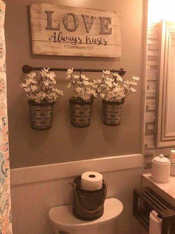 ideias organizar banheiro potes
