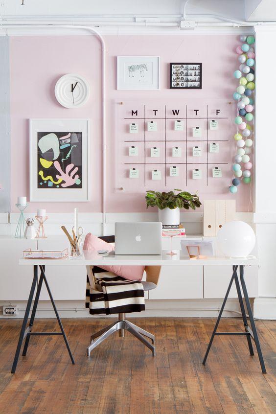 ideias para decorar o escritorio