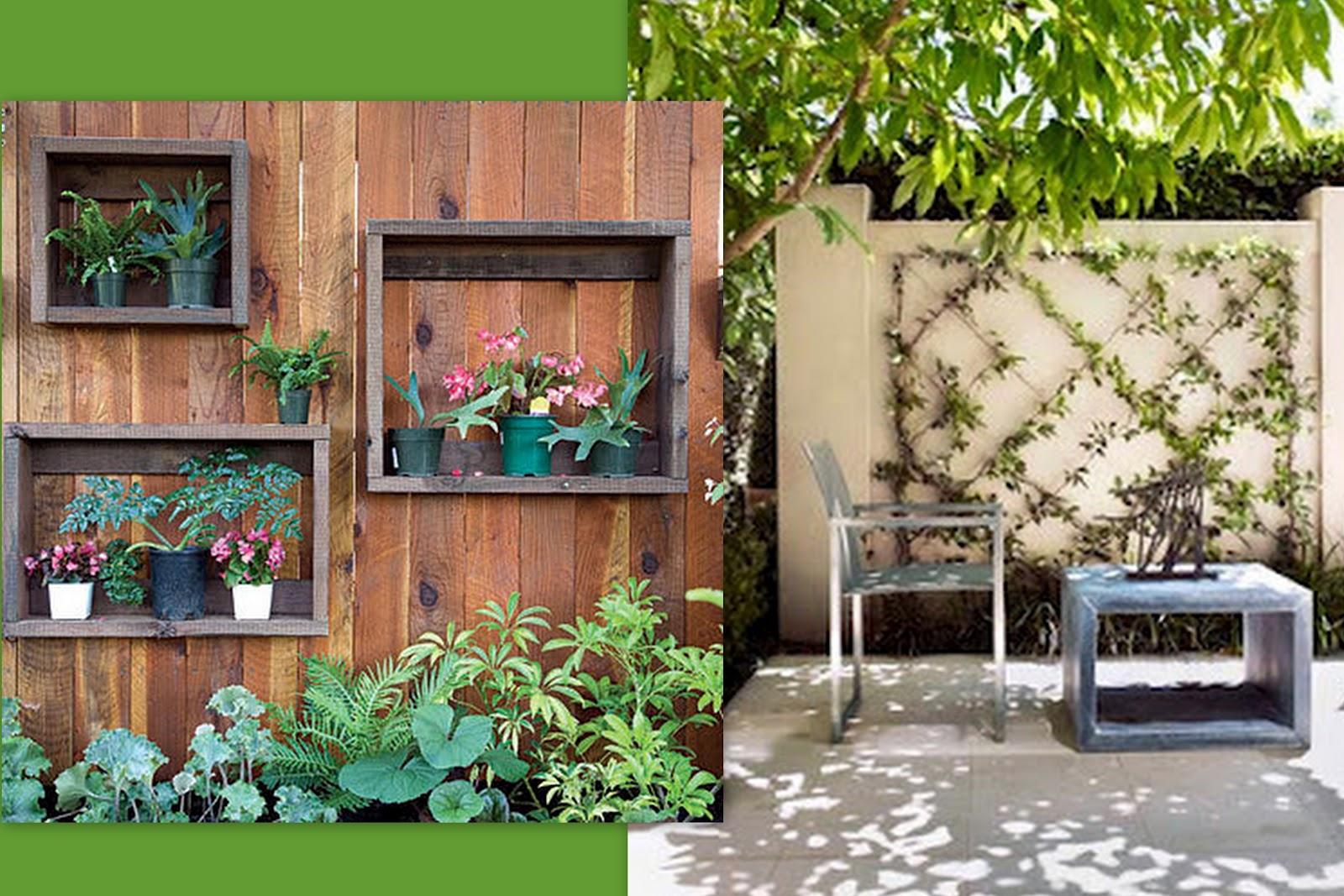 ideias para montar um jardim vertical