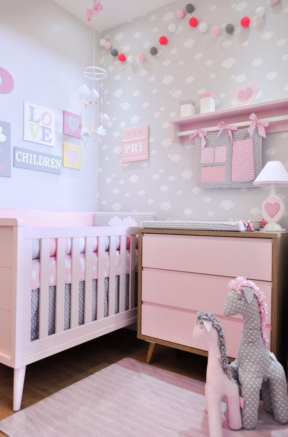 ideias quarto bebe decorado menina 1