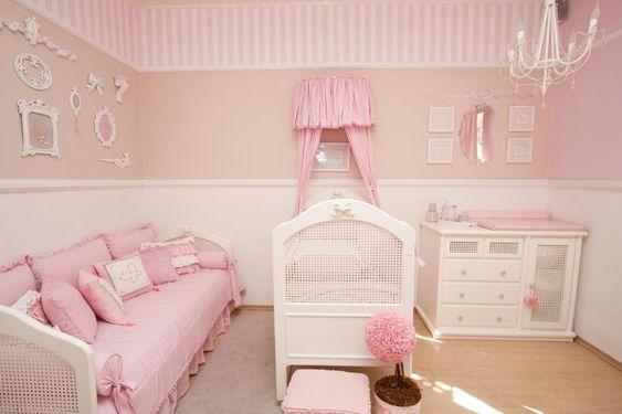 ideias quarto bebe decorado menina