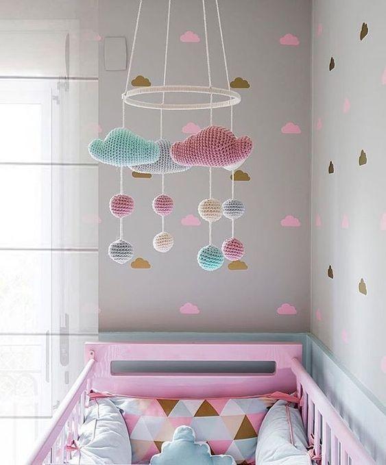ideias quarto bebe decorado papel croche