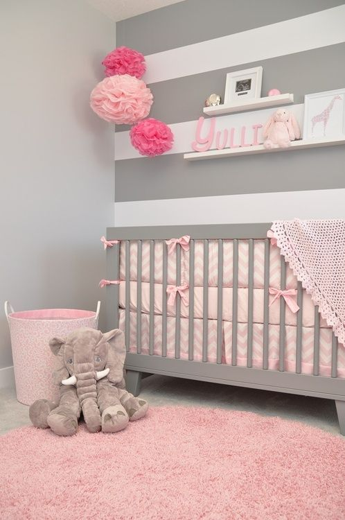 ideias quarto bebe decorado rosa