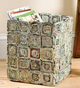 ideias reciclar jornal 11