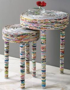 ideias reciclar jornal 13