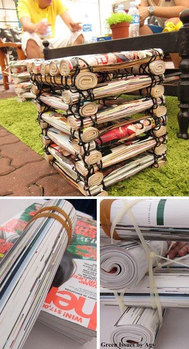 ideias reciclar jornal 2
