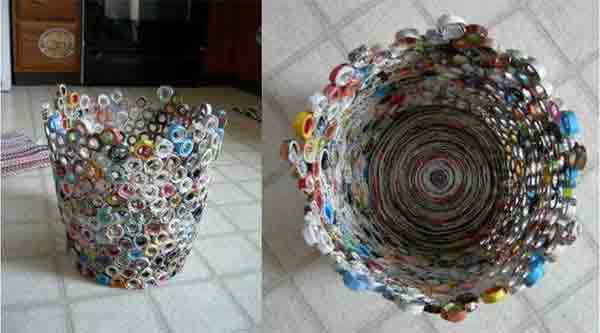 ideias reciclar jornal 3