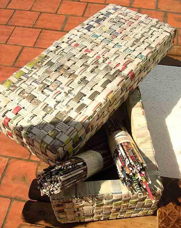 ideias reciclar jornal 4