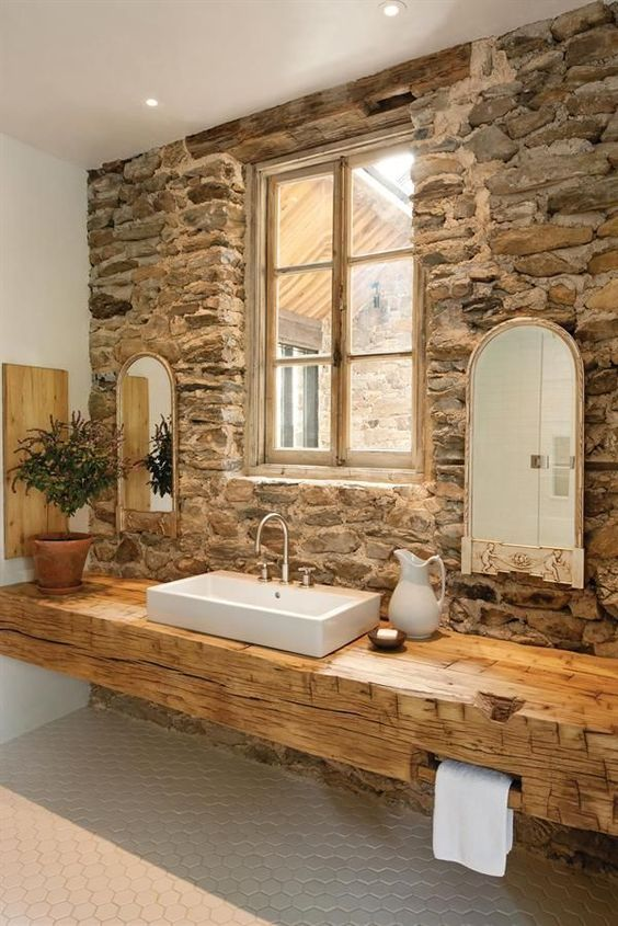 ideias rusticas decorar banheiro ideias 1